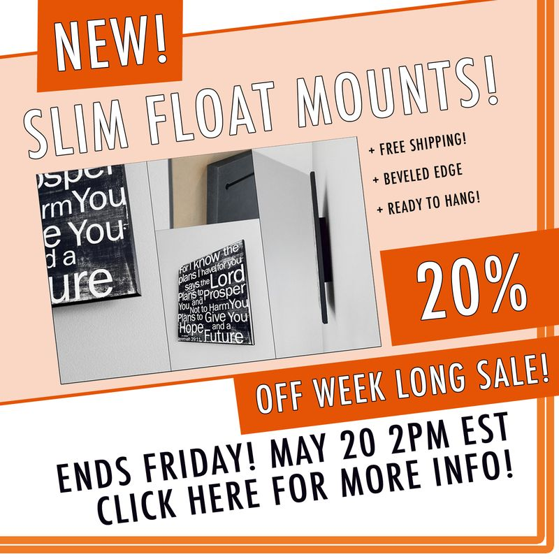 Slim float mounts